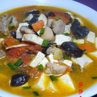 鸡肉豆腐锅