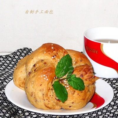 红枣芝士豆渣面包