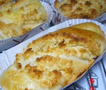 椰蓉纸托面包