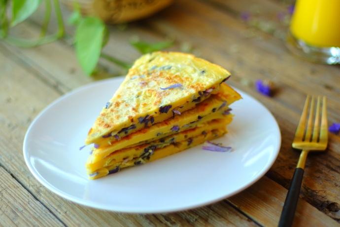 紫甘蓝鸡蛋饼
