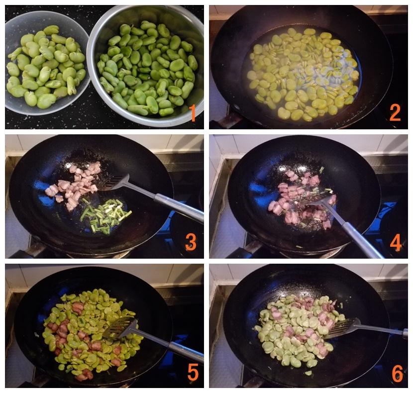 五花肉炒蚕豆