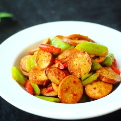 青椒炒素鸡