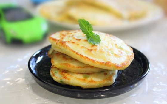 青瓜葱香松饼