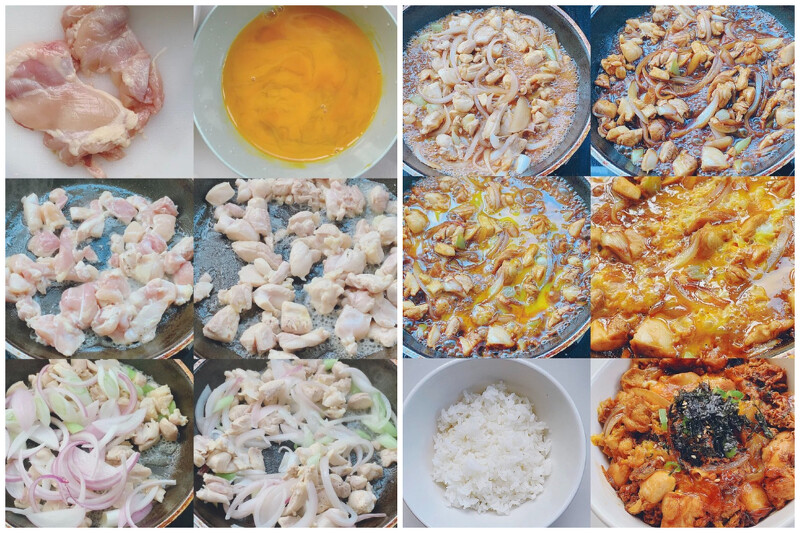 日式鸡肉亲子丼食谱作法
