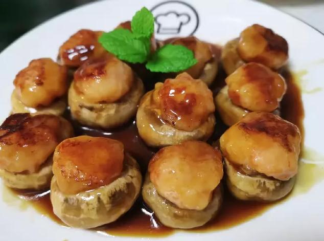 中秋美食-虾滑酿口蘑