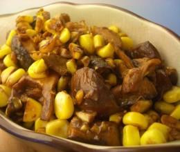 玉米粒炒素肥肉