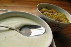 姜汁炖奶&姜蓉炒饭