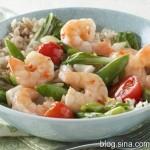 虾仁铁板糙米饭