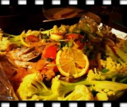 柠汁烤鱼配蔬菜一锅端