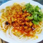 香辣鸡丁米线