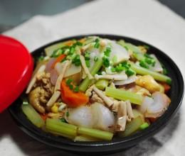 杂蔬鸡块锅(塔吉锅)