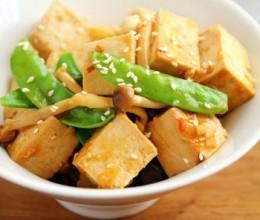 腌北豆腐蘑菇沙拉