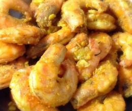 咸蛋黄炒虾