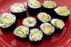 牛油果寿司(avocado roll)