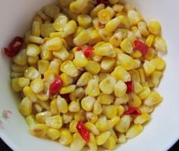 素椒甜玉米
