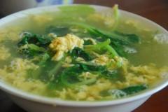 鸡毛菜蛋汤