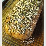 健康黑麦面包