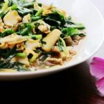 海螺肉炒韭菜