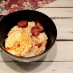 腊肠栗子焖饭