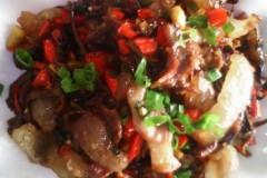 茶树菇炒腊味