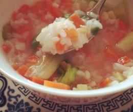 红萝生菜燕麦咸姜粥