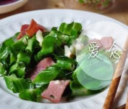 培根炒四角豆