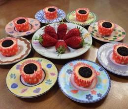 mini奥利奥草莓无奶酪版芝士蛋糕