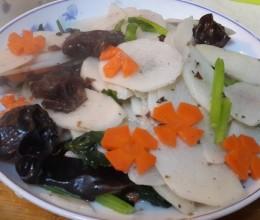 淮山(山药)炒木耳