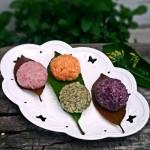 彩色糯米饭团
