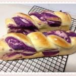 紫薯麻花包