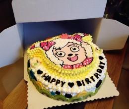 美羊羊生日蛋糕