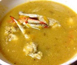 南瓜螃蟹汤