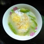 丝瓜煎蛋汤(面)