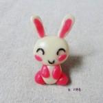 糯米粉手工之粉小兔