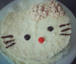 可爱Kitty蛋糕~简单快手奶油蛋糕
