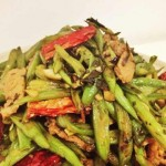 超好吃四季豆做法——四季豆橄榄菜炒肉