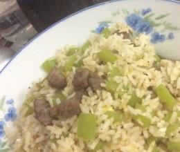 菜椒牛肉粒炒饭