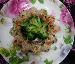 青菜肉末拌饭