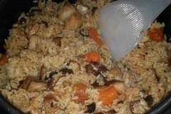 香菇五花肉米饭