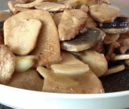 清炒石头菇