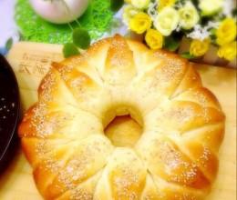 皇冠花朵面包(全套手揉版,零失败的方子)