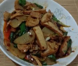 蒜苗米豆腐