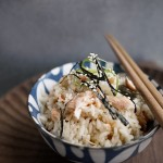 鐵釜鮭魚炊飯