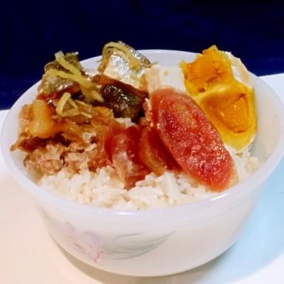 咸鱼肉饼腊肠饭(电饭煲版)