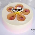 樱花渐变慕斯蛋糕