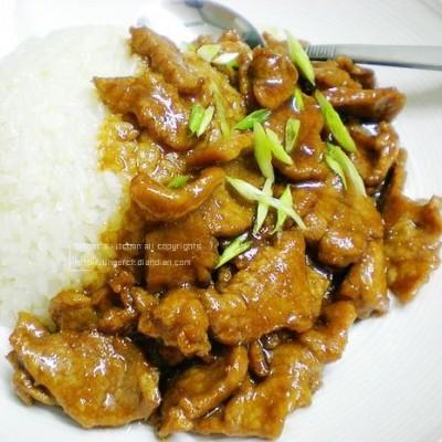 蚝油牛肉盖饭