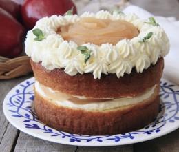 苹果花鲜奶油蛋糕