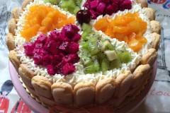 鲜奶双拼水果蛋糕