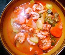 韩式辣酱虾