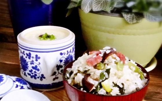 香肠咸肉青菜焖饭